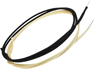 Gavitt Cloth Covered 22awg Pre-tinned Pushback Vintage-style Guitar Wire - 12 Feet (6-White/6-Black)