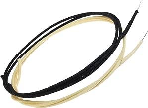 6 Feet (3-white/3-black) Gavitt Cloth-covered Pre-tinned 7-strand Pushback 22awg Vintage-style Guitar Wire