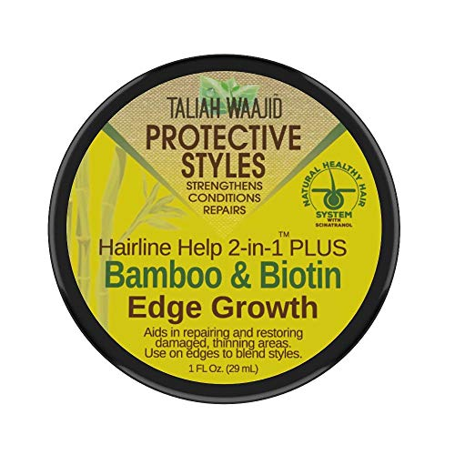 TALIAH WAAJID Protective Styles Hairline Help 2-in-1 Plus Bamboo & Biotin Edge Growth, 1 Oz