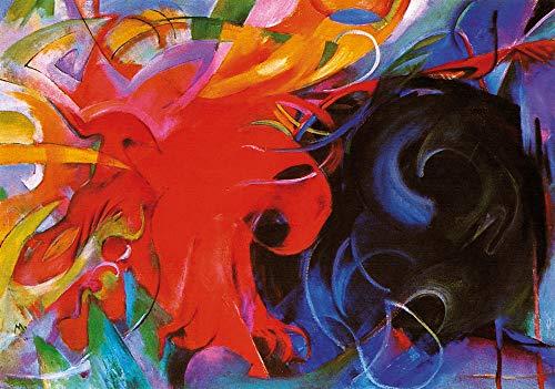 1art1 Franz Marc - Kämpfende Formen I Poster Kunstdruck 30 x 21 cm