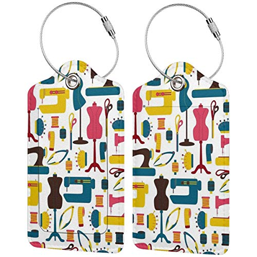Accesorios de costura, etiquetas de equipaje, maleta, portabicicletas de equipaje con correas...