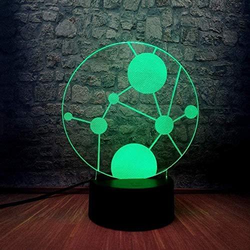ZWANDP Luz nocturna para niños, lámpara de ilusión, 7 colores regulables con tecnología táctil USB, el mejor regalo para niños, niñas, niños