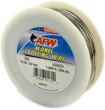 Pepco Solid Monel Trolling Fishing Line 20 Lb 300 Ft USA Made 2 Spool Case