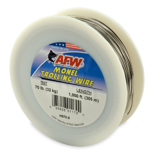 American Fishing Wire Monel Trolling Wire (Single Strand), Bright Color, 15 Pound Test, 300-Feet