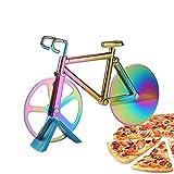 Anyingkai Corta Pizza Bicicleta,Bicicleta Cortador de Pizza,Cortapizzas Profesional,Pizza Cutter Wheel,Corta Pizza Divertido,Cortapizzas,Cortador de Pizza (Vistoso)