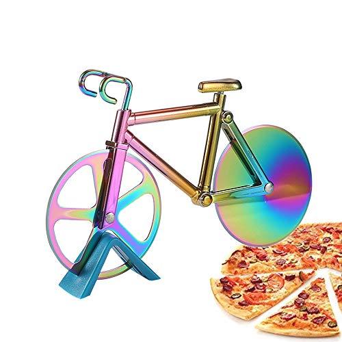 Anyingkai Bicicletta Ruota Tagliapizza,Tagliapizza Bici,Tagliapizza Bicicletta,Rotella Tagliapizza Bicicletta,Tagliapizza Acciaio Inox,Taglierina per Pizza (colore)