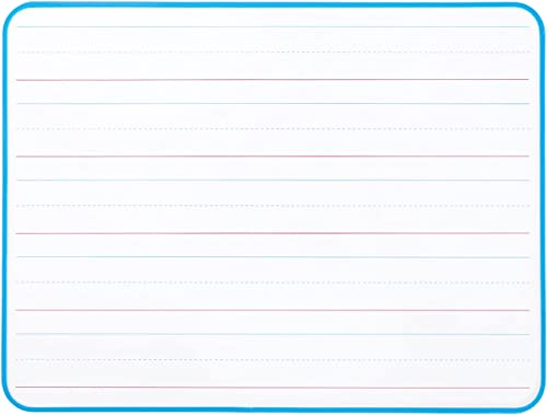 high quality Double lowest Sided Dry Erase Board, new arrival 1 Pack White Lapboard Ruled and Blank Sides with Blue Frame outlet sale