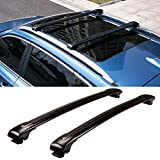 MotorFansClub Roof Rack Cross Bars Fit for Compatible with Mercedes Benz W166 M ML250 ML350 ML500 ML550 GLE 2013-2018 Crossbar Baggage Luggage Rack Aluminum
