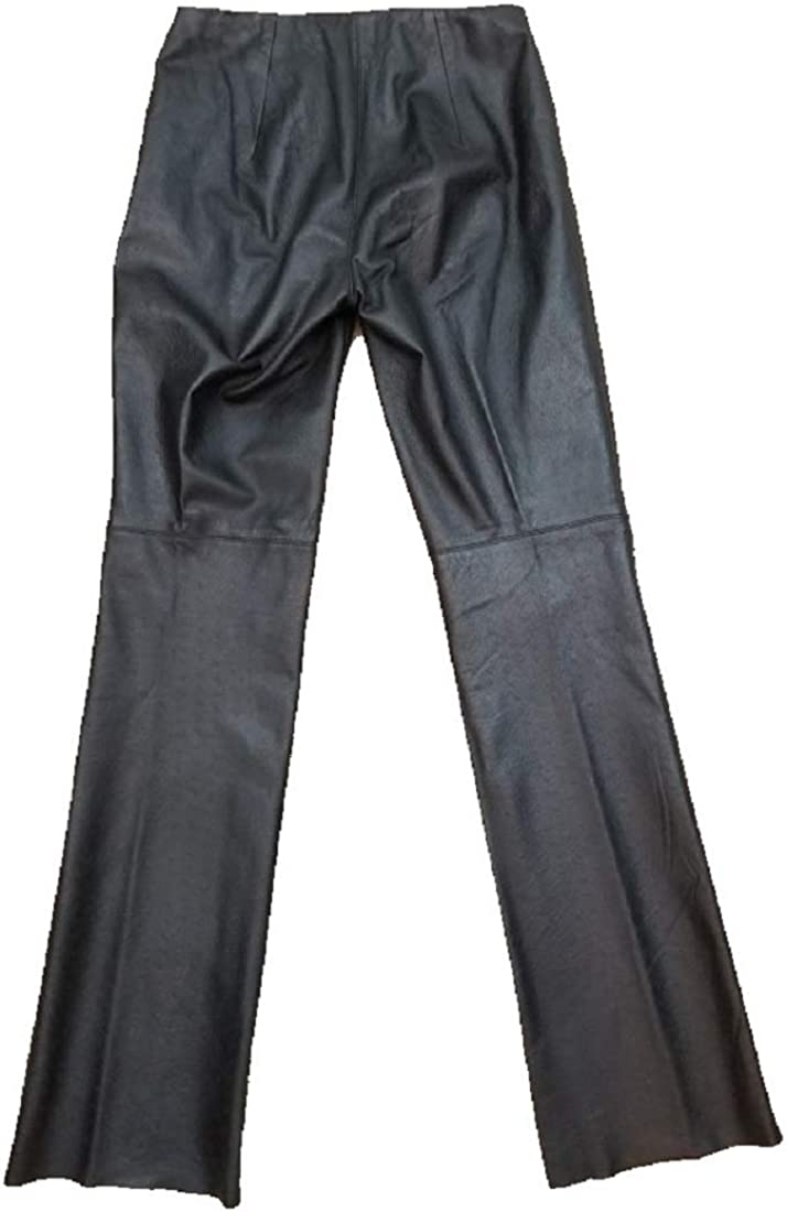 Laundry Shelli Segal 2 Leggings Faux Leather Black Pull On Zip Down Casual