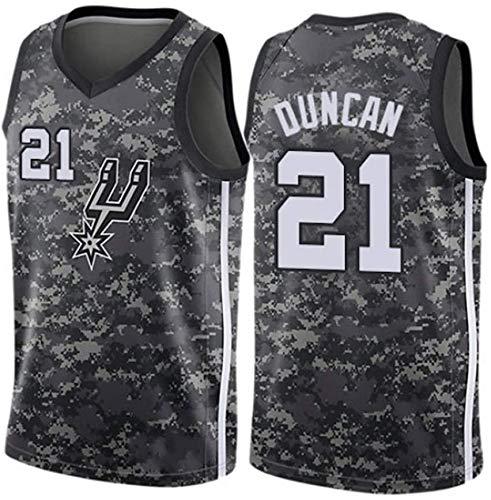 XIAOHAI NBA Jerseys del Baloncesto de los Hombres de San Antonio Spurs # 21 Tim Duncan clásico Jersey, Desgaste Transpirable Resistente Baloncesto All-Star Unisex,L