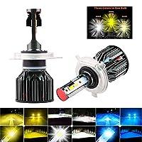 ledライト 2ピース車9005 HB4 LEDカンバスカーヘッドライト電球H7 H4 9012 H8 H11ヘッドランプ電球6000K 3000K 4300Kホワイトイエロー電球 led (Emitting Color : 3000K 4300K 6000K, Socket Type : H9)