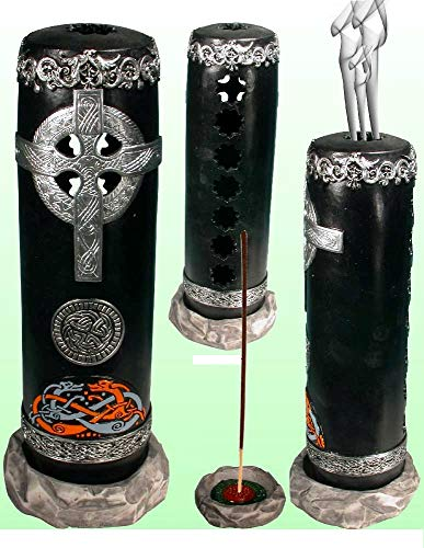 Celtic Cross Smoking Stick Incense Tower Incense Burner-ashcatcher by Nose Desserts Brand