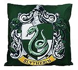 To243Finn Slytherin - Federa per cuscino decorativo, motivo: stemmi della casa di Hogwarts