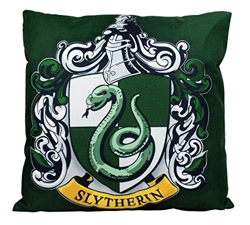 Se556th Slytherin Kissenbezug, Dekoration mit Hogwarts-Hauswappen