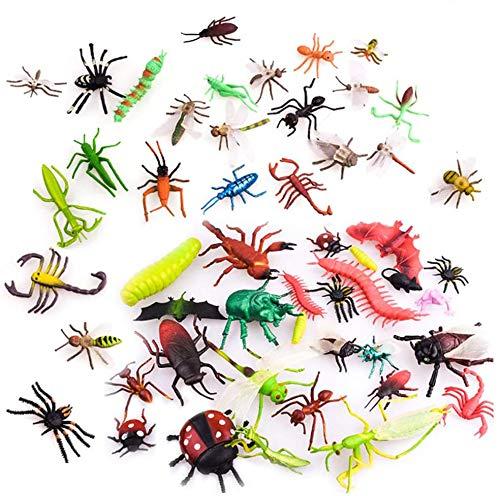 Insekt Spielzeug,27 Stück Plastic Insects Bugs Figuren, Simulierte Insekt aus Premium,Tierwelt Figuren Modell Realistische Bugs Insekten Spielzeug Kinder Biologie Wissenschaft Spielzeug Geschenk