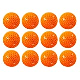 One Dozen Orange Plastic Dimpled Training Balls for Use with Hit Zone Jr Air Powered Batting Tee