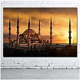 wzgsffs Dekorative gemälde Religiöse Sultan Ahmed Moschee Bild Gedruckt Leinwand Tuch Wandkunst Poster für Raumdekor Druck auf leinwand-60x90 cm Kein Rahmen