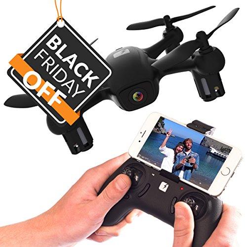 Rabing Pieghevole FPV RC Quadcopter con HD WiFi Dual Camera 4CH Assi gyro Immagine Seguenti V Gesto Selfie Drone, Bianco