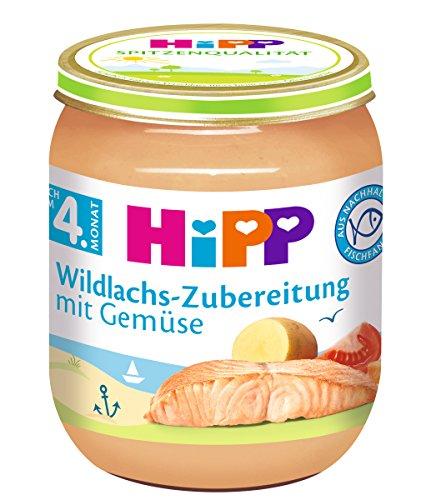 HiPP Wildlachs-Zubereitung mit Gemüse, 12er Pack (12 x 125 g)