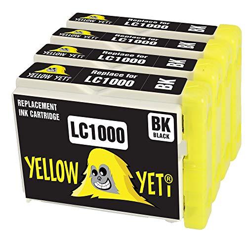 Yellow Yeti Reemplazo para Brother LC1000 LC1000BK Cartuchos de Tinta Negro compatibles con Brother DCP-130C DCP-135C DCP-150C DCP-330C DCP-350C DCP-357C DCP-540CN DCP-560CN DCP-770CW MFC-235C 465CN