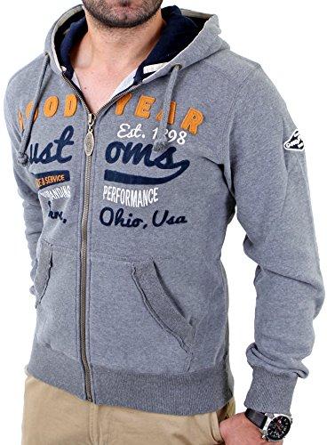 Goodyear Fashion Herren Knowville Sweatjacke, Marl Grey, S