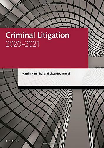 Criminal Litigation (Legal Practice Course Manuals)