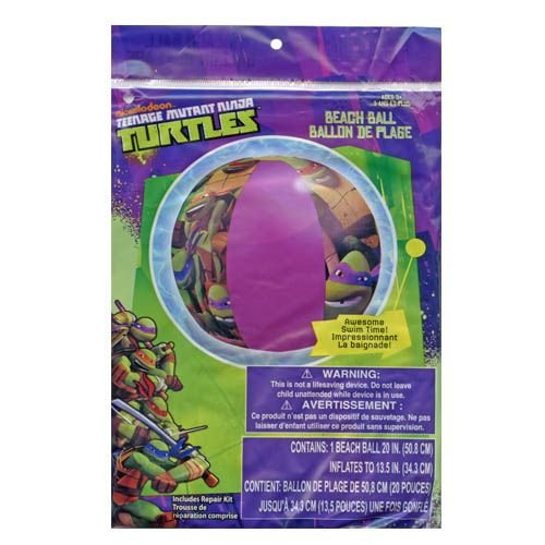 """Turtles Teenage Mutant Ninja Inflatable 20"""" Beach Ball - TMNT Boys Pool Toy"""