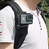 Techson Back<span class='highlight'>pack</span> <span class='highlight'>Mount</span> for GoPro Hero 6 7, Quick Release <span class='highlight'>Shoulder</span> <span class='highlight'>Strap</span>, Outdoor Climbing Walking Camera Accessories with 1/4
