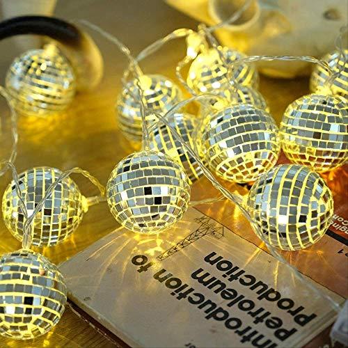 Guirnalda de luces LED de 10 ledes, 1,5 m, para espejo, mosaico, decoración de Navidad, guirnalda, diámetro 5 cm