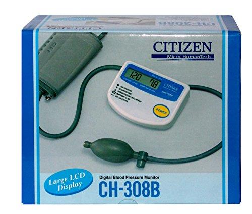 Citizen CH-308B Medidor de Presión Arterial, blanco/azul