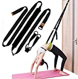 Xemz Back Bend Assist Trainer - Improve Back and Waist Flexibility, Door Flexibility Stretching Strap, Home Equipment for Ballet, Dance, Yoga, Gymnastics, Cheerleading, Splits (black)