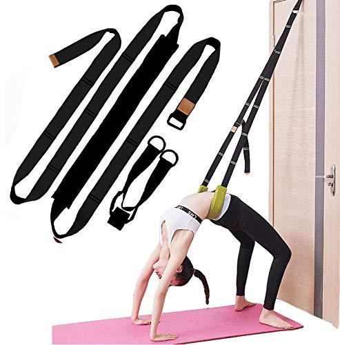 Xemz Back Bend Assist Trainer - Improve Back and Waist Flexibility, Door Flexibility Stretching Strap, Home Equipment for Ballet, Dance, Yoga, Gymnastics, Cheerleading, Splits (Black)