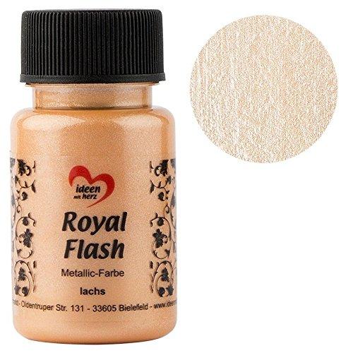 Royal Flash, Acryl-Farbe, metallic, mit feinsten Glitzerpartikeln, 50 ml (lachs)