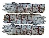 3 Pack Mini (4') White Sage Smudging Stick - SK White Sage INC.