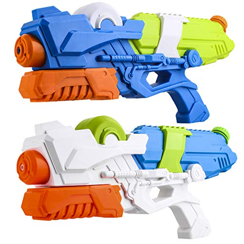 YOUNG CHOI'S 2 Pack Big Super Kids Powerful Squirt Water Guns Cannon Adults Soaker, Long Range Outdoor Swimming Pool Fight Beach Toys Toddler Battle Water Teen Blaster