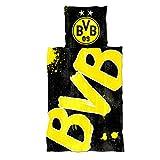 Borussia Dortmund, BVB-Bettwäsche Glow in the Dark, Gelb, 135x200cm