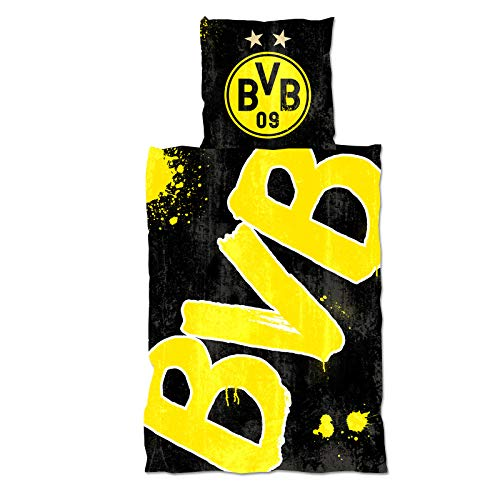 Borussia Dortmund beddengoed Glow in the Dark 135x200cm incl. kussensloop 80x80cm