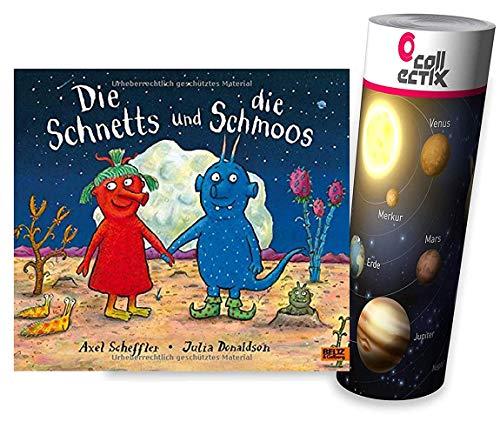 Beltz & Gelberg Die Schnetts und die Schmoos: Vierfarbiges Bilderbuch + Planeten Lern-Poster von Collectix | für Kinder ab 4 Jahren