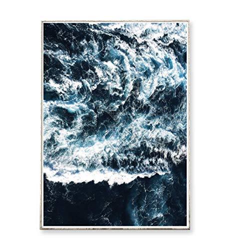 Kunstdruck Poster Bild WAVES -ungerahmt- Meer, Ozean, Wellen, Brandung, Küste, Landschaft