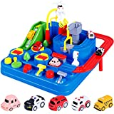 Car Adventure Toy, City Rescue Preschool Educational Rail Car, Parent-Child Interactive Racing Kids Toy, Puzzle Car Track Parking Playsets for 3 4 5 6 7 8 Year Old Boys Girls