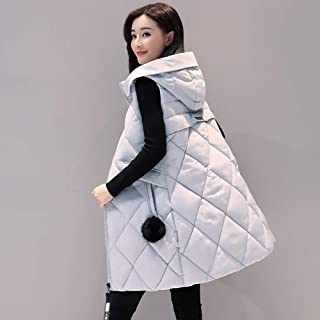 Alician Autumn Winter Vest Women Waistcoat Sleeveless Vest Hooded Jacket Slim Overcoat