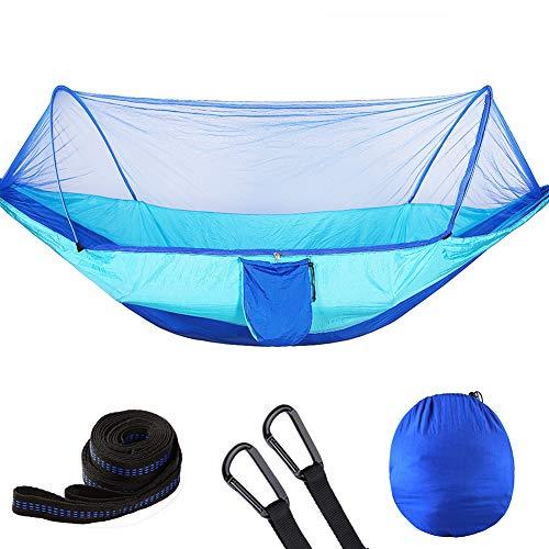 DaiHan Mosquitero Hamaca Ultraligera para Viaje y Camping | Transpirable, Nylon de Secado Rápido de Nylon Incluidas | para Interiores y Exteriores Doble Azul M