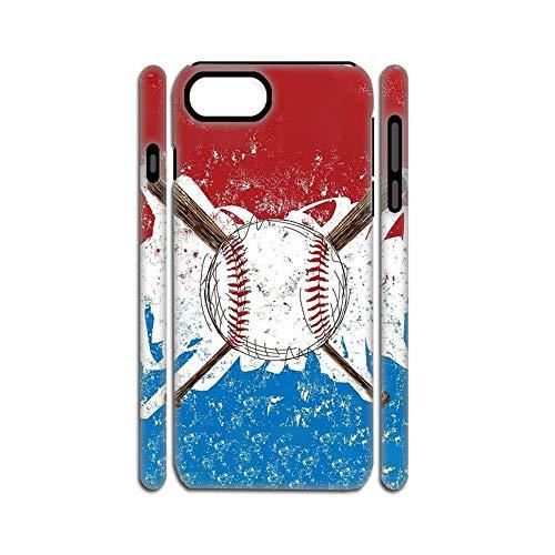 Plásticos Y Funda De Silicona Suave para El Teléfono para Chicas Bueno Impresión Baseball 3 Compatible con Apple iPhone 6 6S Choose Design 111-1