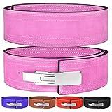 Hawk Sports Lever Belt 10mm Powerlifting Belt for Men & Women Buckle Strongman Power Weight Lifting Weightlifting Belts (Pink, L (38' -44'))