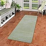 Snapstyle Streifenberber Teppich Läufer Lines Grün Meliert in 9 Größen