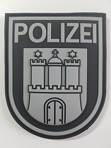 ATG Ärmelabzeichen Polizei Hamburg 3 D Rubber Patch (BlackOps)