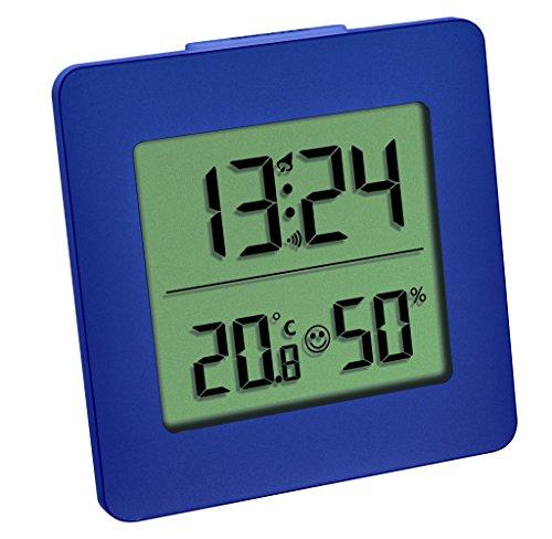 TFA Dostmann 30.5038 Digitales Thermometer Hygrometer Raumklima-Kontrolle (blau TFA 30.5038.06)