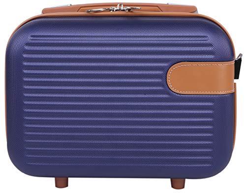 ミニスーツケース お出かけ 旅行 ショルダーベルト付き 2way キャリーオン可能 機内持ち込み 手持ちがかわいい 小さめサイズ ネイビー(S)