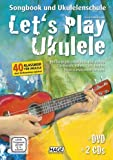 Let's Play Ukulélé–SONGBOOK et ukulélé école avec 2CD et DVD de Daniel Savetier Bauer–40classique pour ukulélé sans préalables jouer–avec original Dunlop plek