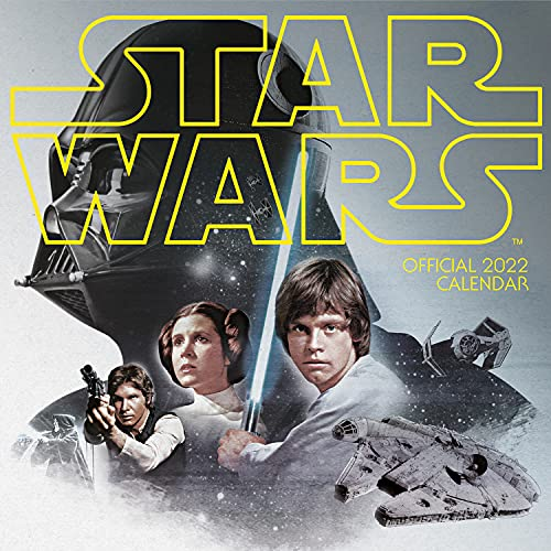 Official Star Wars Classic 2022 Calendar - Month To View Square Wall Calendar